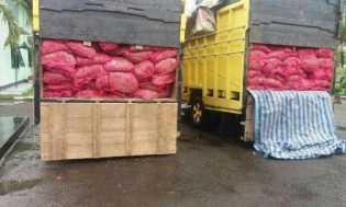 Kodim 0320/Dumai Amankan 5 Ton Bawang Merah Ilegal