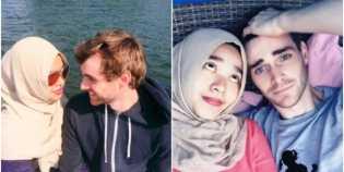 Kisah-kasih Cinta Bule Tampan dengan Muslimah Indonesia Ini Buat Kagum Netizen