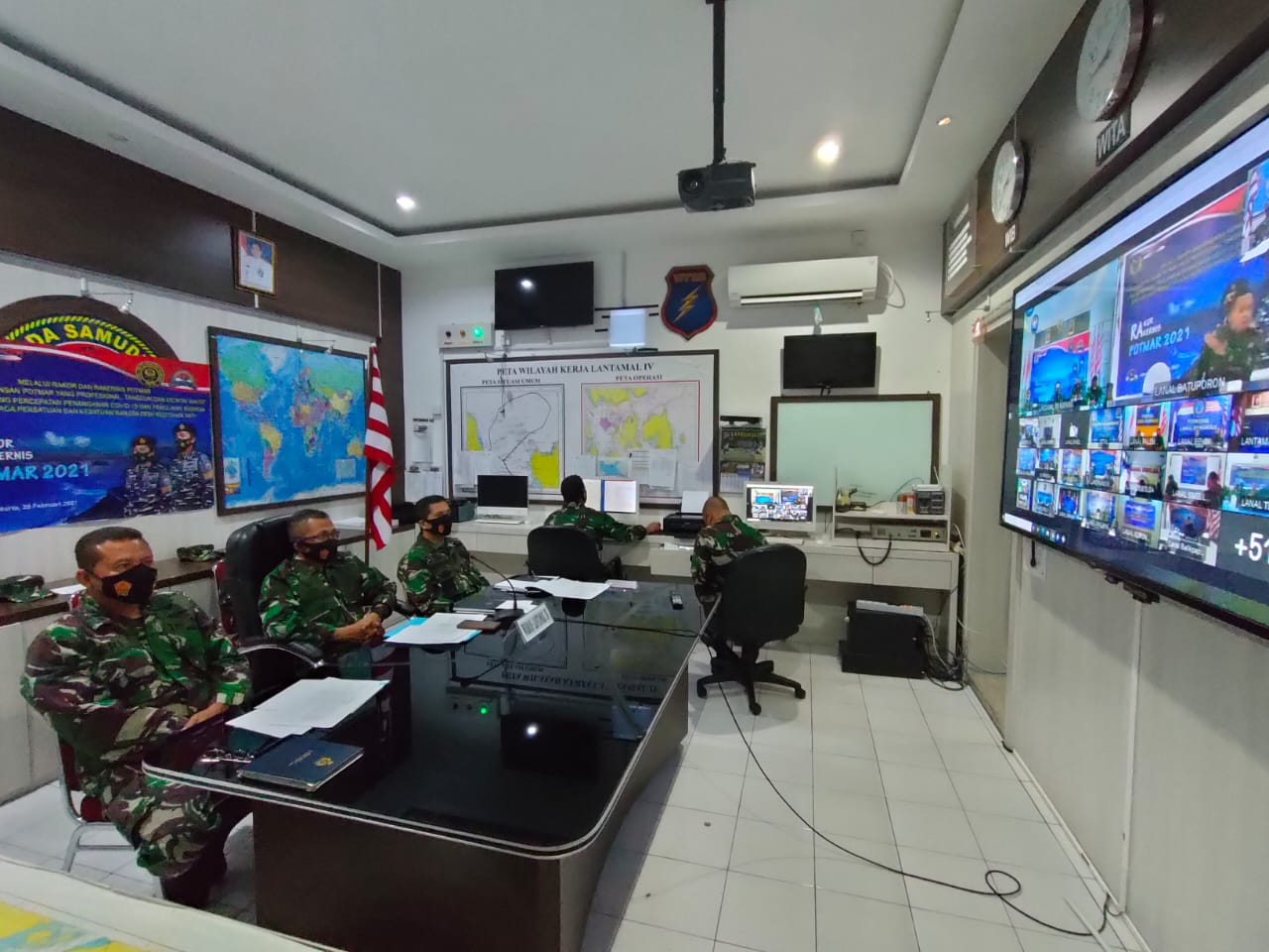 Wadanlantamal IV Melalui Vicon Ikuti Rakor Potmar 2021