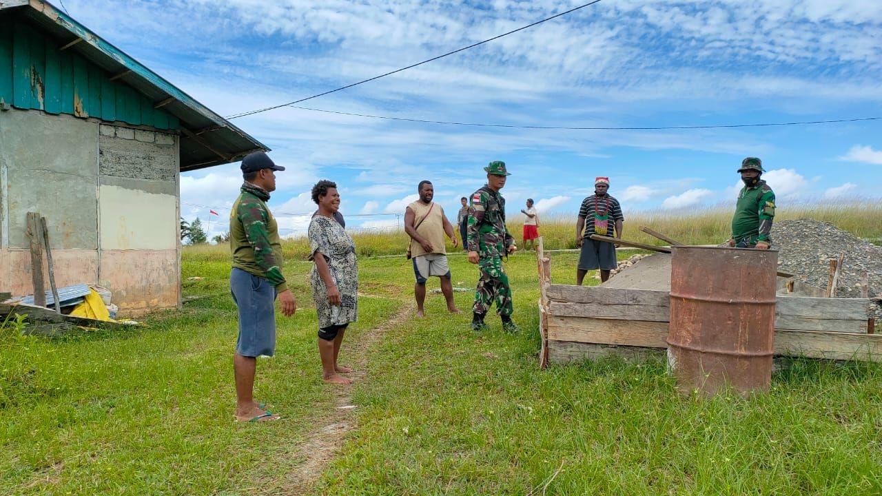 Dandim 1711/Boven Digoel Tinjau Lokasi TMMD Ke-110 di Distrik Kawagit