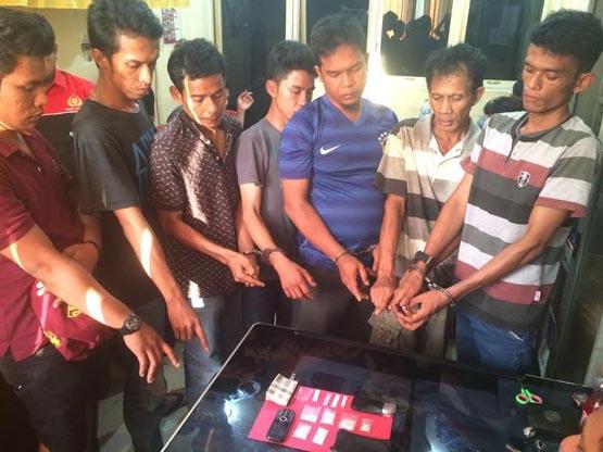 Pesta Sabu, Tujuh Pria di Dumai Diciduk Polisi
