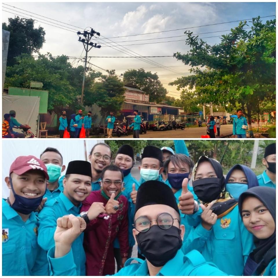 DPD KNPI Kabupaten Kepulauan Meranti Bagikan Takjil Di Kecamatan Tebing Tinggi Barat