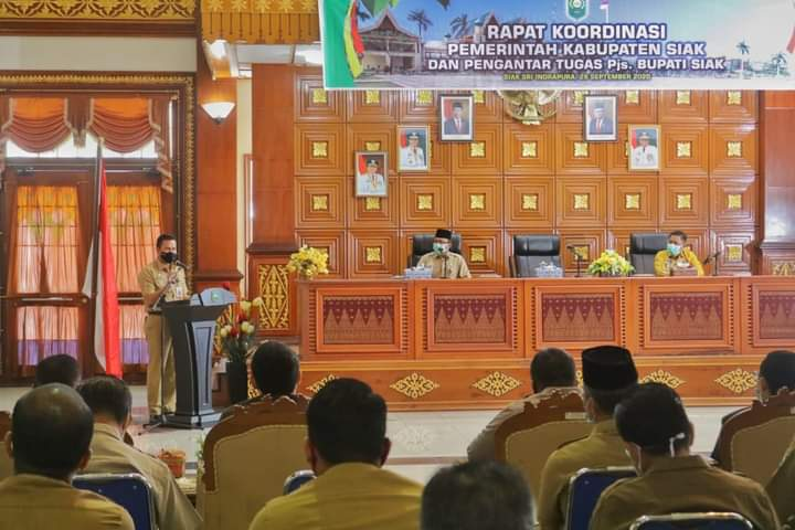 Pimpin Rapat Koordinasi Perdana, Ini Pesan Pjs Bupati Siak