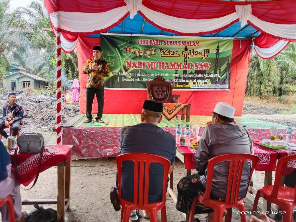 Peringatan Isra' Mi'raj di Desa Pancur, Ketua DPRD Inhil Sampaikan Hal Ini