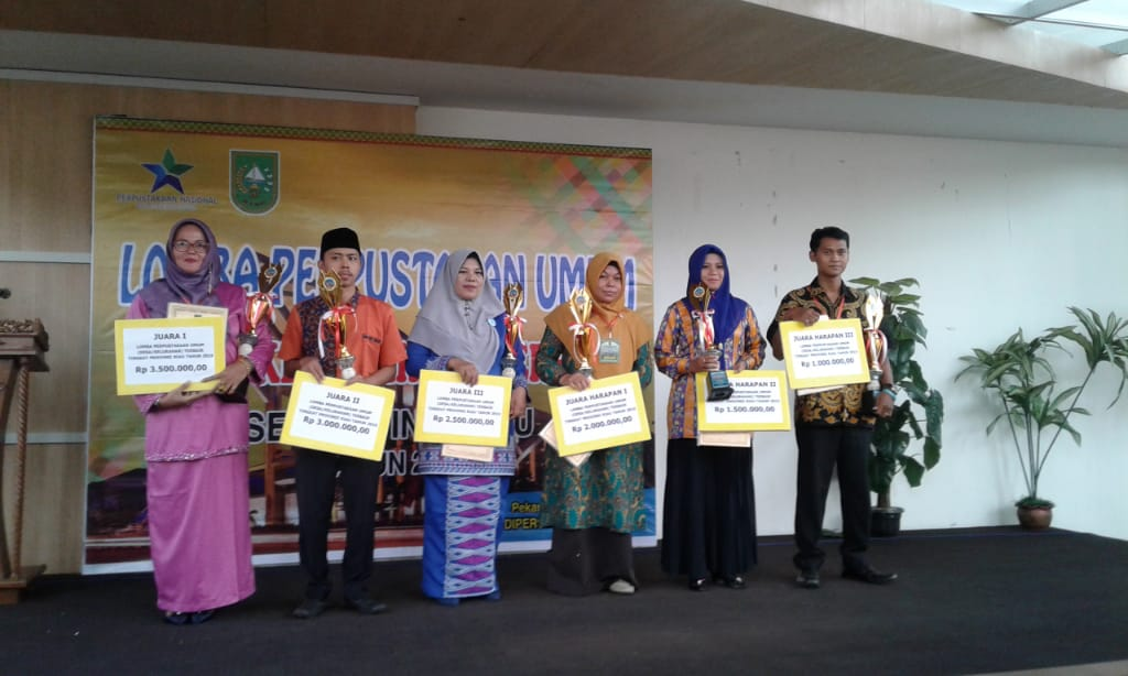 Perpusdes Jangkang Juara Pertama Provinsi Riau