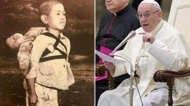 Paus Ingin Foto Anak Gendong Mayat Adiknya Ini Disebar ke Dunia