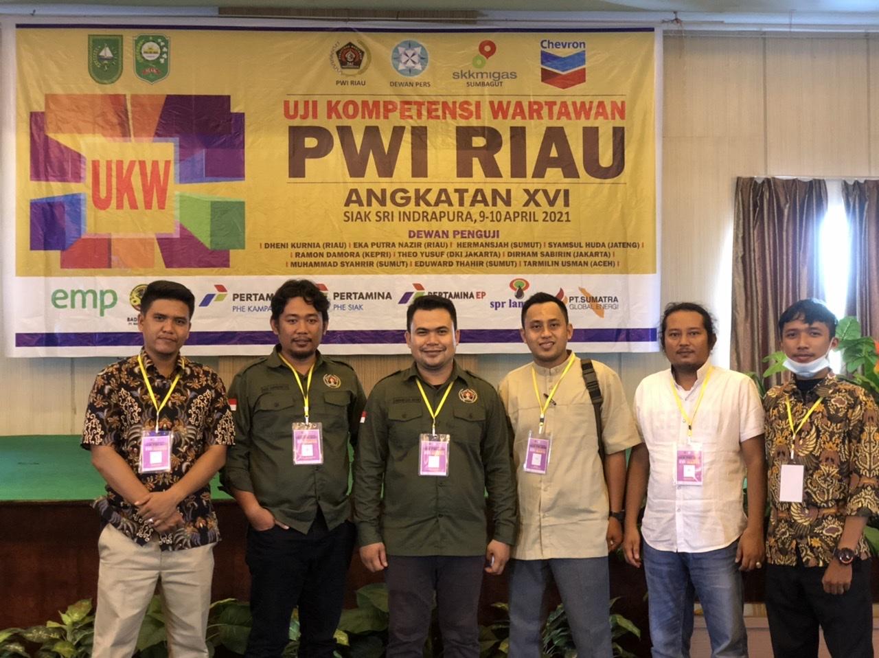 Enam Wartawan dari PWI Inhil Dinyatakan Berkompeten
