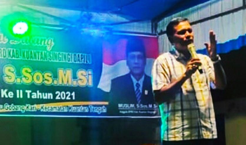 Anggota DPRD Kuansing Fraksi NasDem Muslim S.Sos Jemput Aspirasi Masyarakat