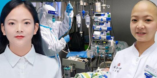 Hindari Infeksi Silang dari Virus Corona, Perawat Cantik ini Putuskan untuk Menggundul