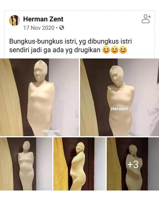 WADIDAW! Pria Ini Hobi Bungkus Istri lalu Foto-fotonya Dibagikan ke Medsos, Netizin Bilang Begini...
