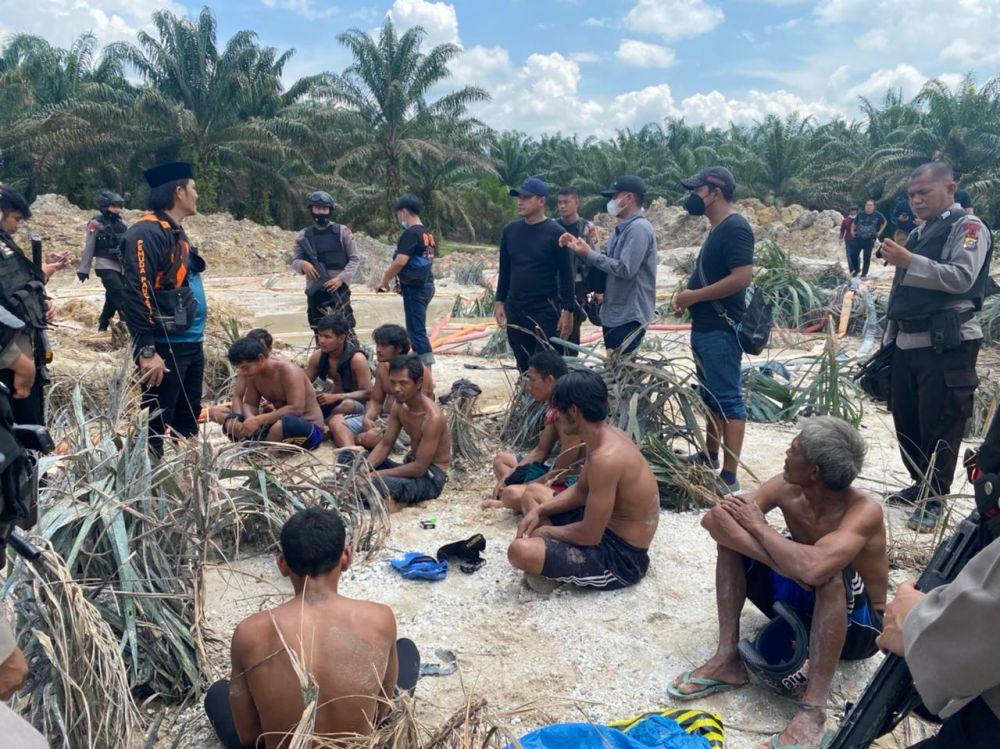Polda Riau Gulung 11 Pelaku PETI di Kuansing