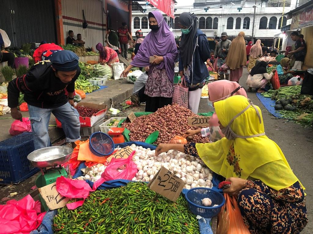 Suasana Pasar Subuh Tembilahan