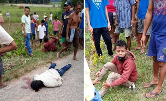 Dikejar Warga Usai Jambret Dompet Rena Susanti, Ayah Tewas Terjatuh, Anak Terlempar ke Sawah