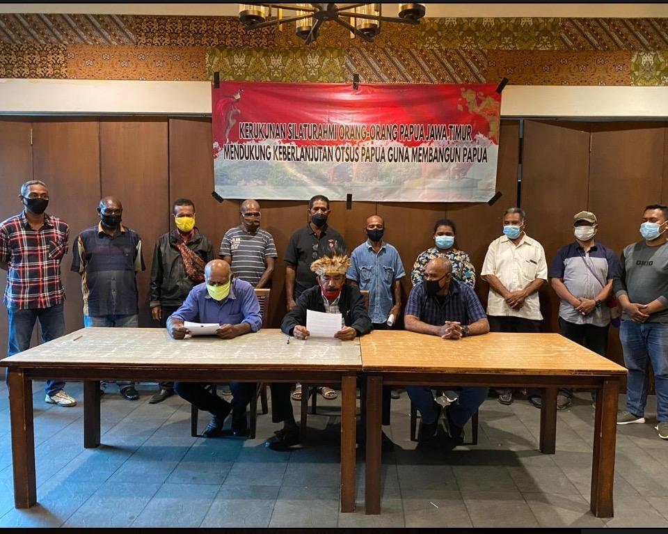 Kerukunan Masyarakat Papua di Jawa Timur Dukung Keberlanjutan Otsus