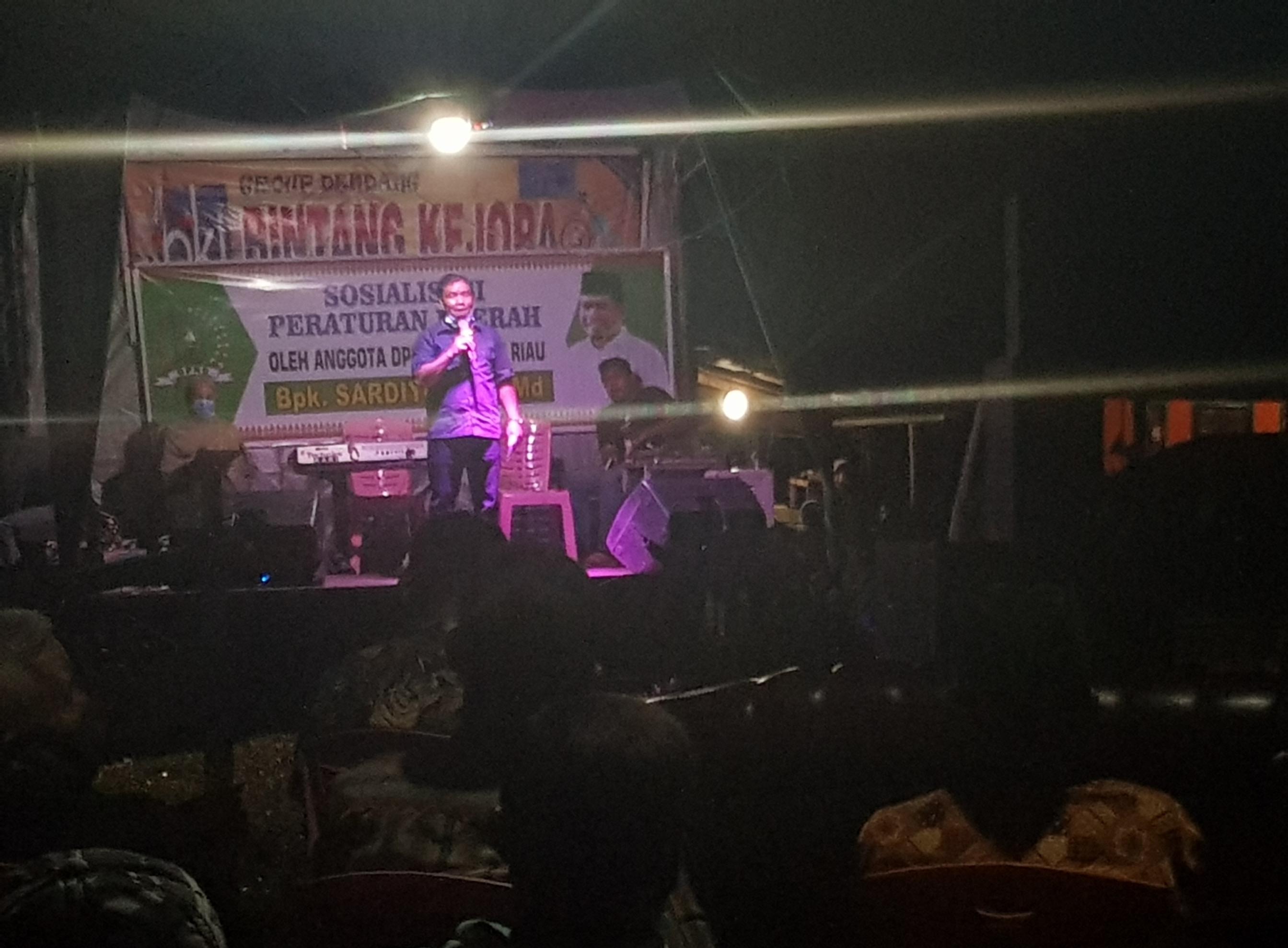 Anggota DPRD Riau Sardiyono Sosialisasikan Pentingnya Perda Untuk Kabupaten