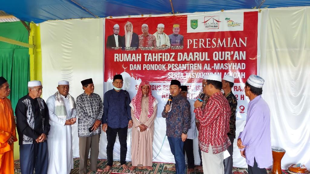 Abdul Wahid Resmikan Rumah Tahfidz Daarul Quran dan Pondok Pasantren Al-Masyhad di Pekan Arba