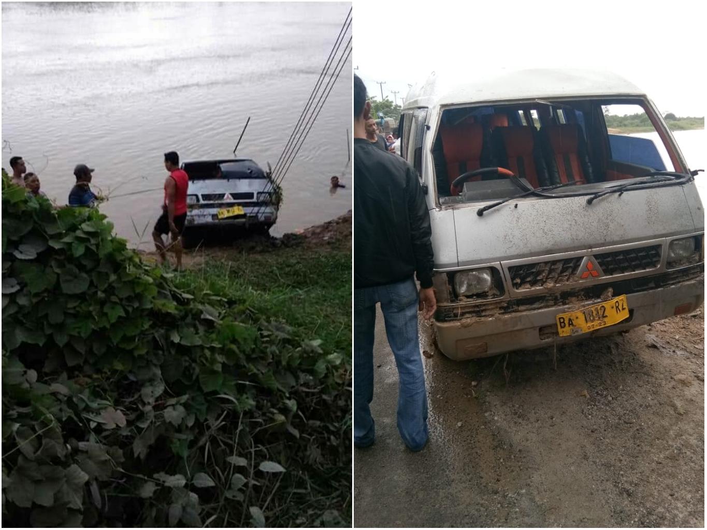 Diduga Sopir Mengantuk, Mobil ini 'Nyemplung' ke Sungai, 2 Orang Meninggal