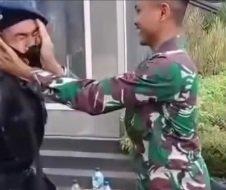 Saking Bangganya, Kakak TNI Tampar Adik karena Jadi Brimob
