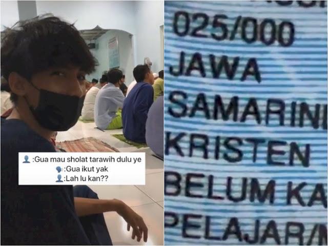 Pria Non Muslim Ini Ikut Salat Tarawih Berjamaah Bareng Temannya di Masjid