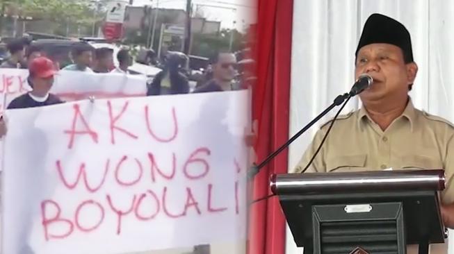 Prabowo Minta Maaf soal Tampang Boyolali