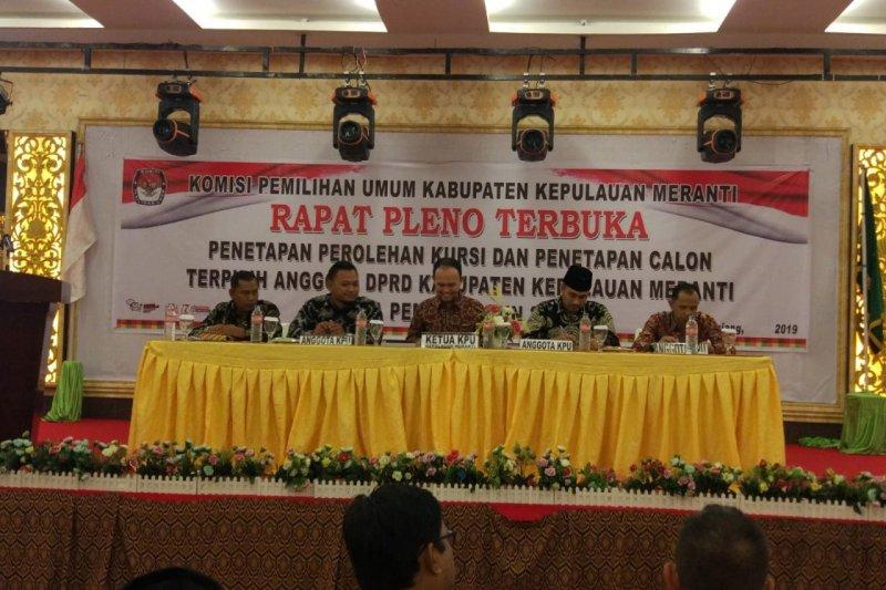 Baru Enam KPU di Riau Pleno Penetapan Caleg Terpilih