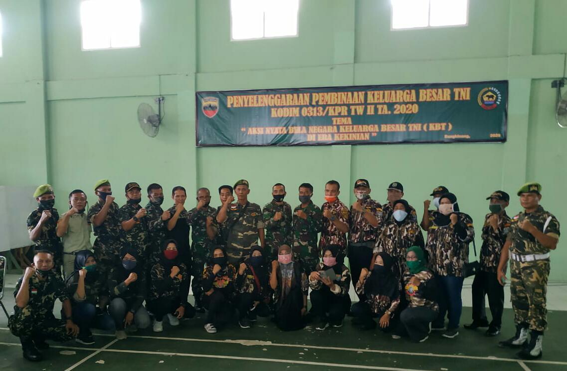 GM FKPPI Rayon Bangkinang Kota dan PC Kampatr Hadiri Acara Pembinaan Teritorial Keluarga Besar TNI