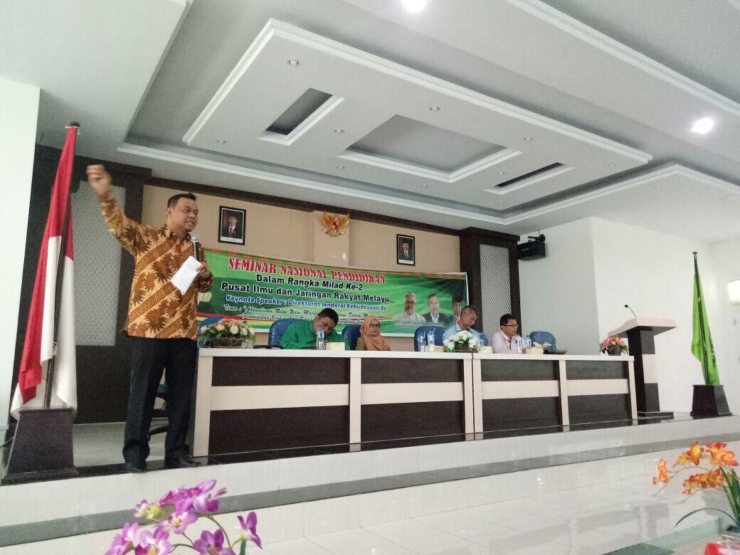 Pijar Melayu Taja Seminar Pendidikan Berkarakter di Universitas Islam Riau