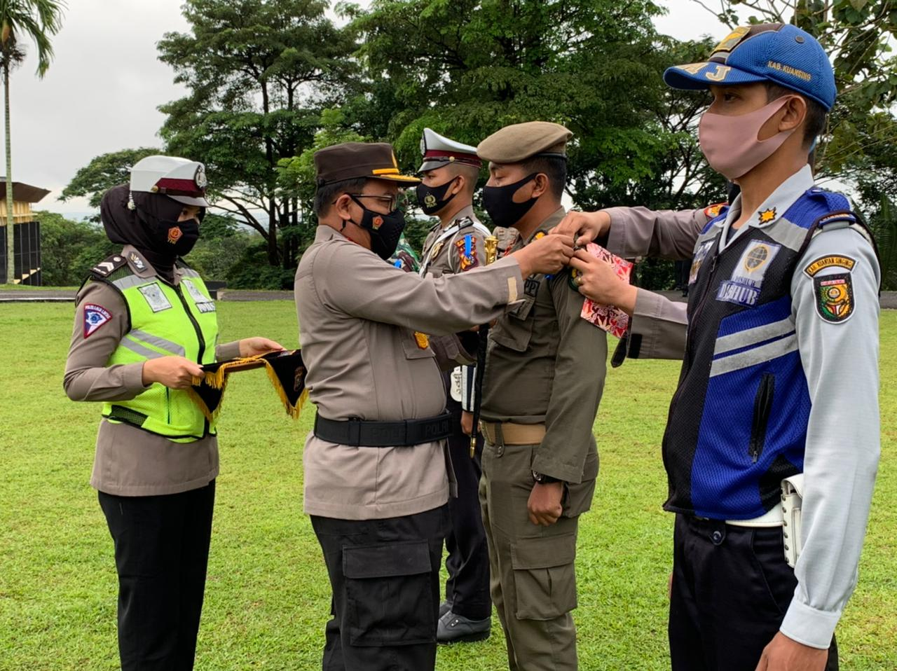 Kapolres Kuansing AKBP Henky Poerwanto S.I.K MM Pimpin Operasi Keselamatan Lancang Kuning 2021