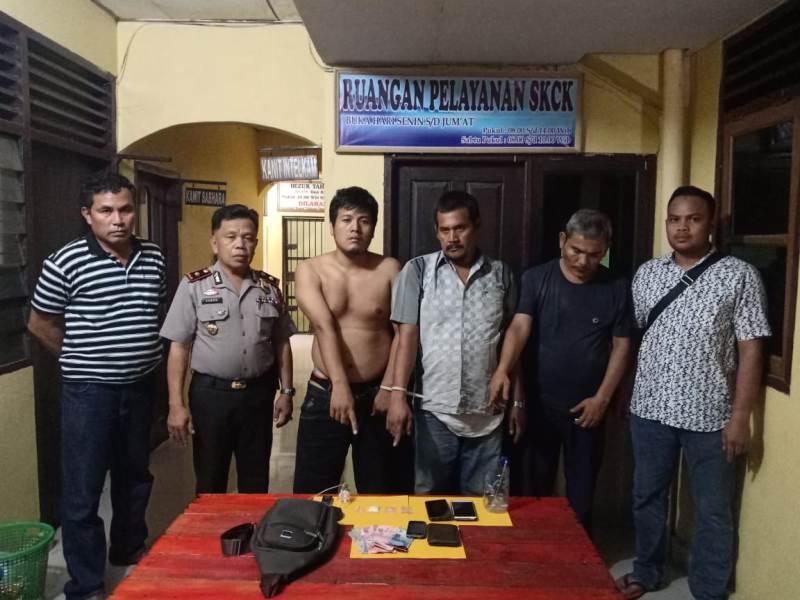 Tiga Pelaku Narkotika Ditangkap di Depan SPBU Balai Jaya Saat Akan Transaksi