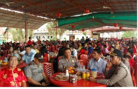 Kapolres Inhil Tinjau Pengamanan Peringatan Tahun Baru Imlek 2586