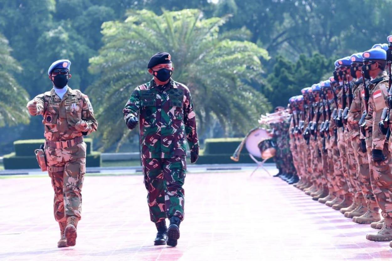 Satgas BGC dan Kizi Kontingen Garuda Berhasil Dalam Misi PBB di Kongo, Panglima TNI : Saya Benar-benar Bangga Pada Kalian