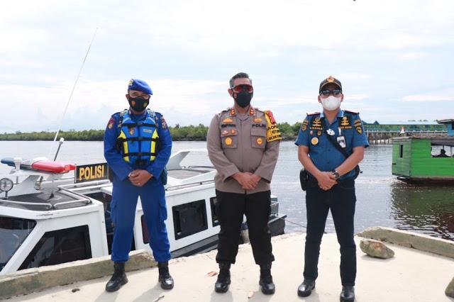 Polisi di Kepulauan Meranti Lakukan Penyekatan di Laut, Ini Hasilnya