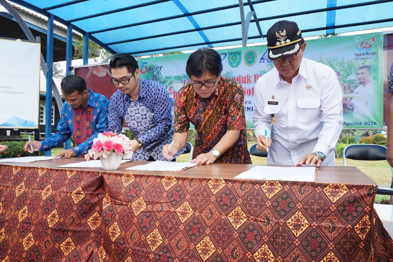 Bupati Inhil, HM Wardan Hadiri Peluncuran 'Biopeat' PT RSUP