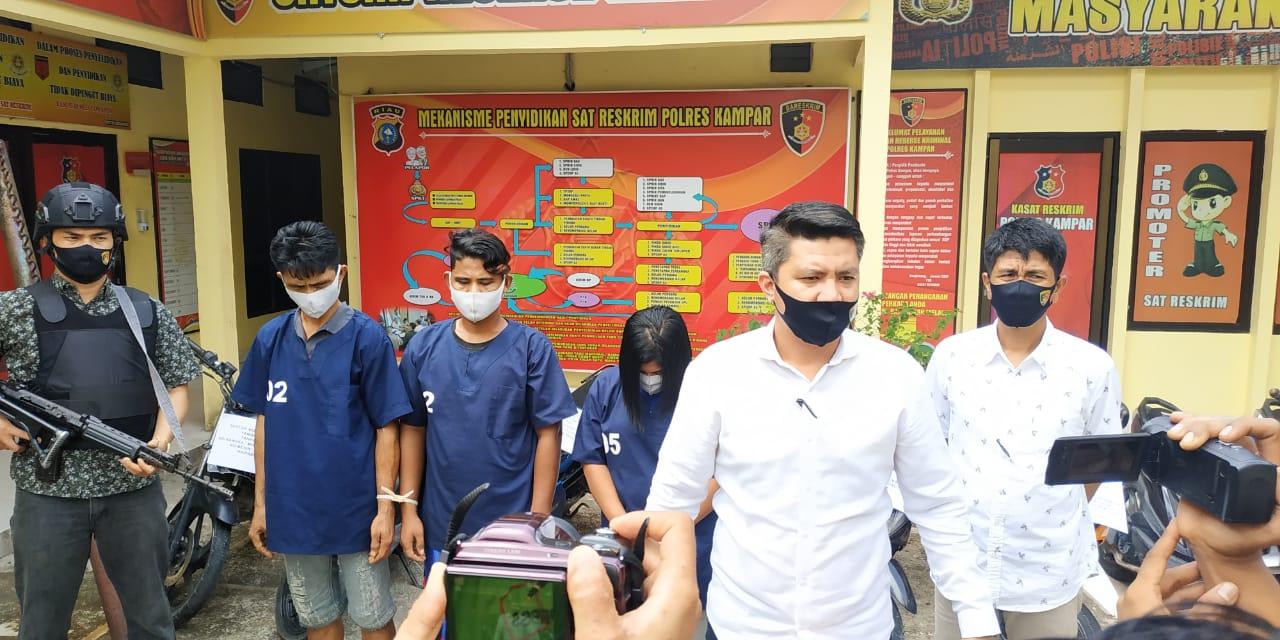 Polres Kampar Ungkap Komplotan Penadah Motor Curian Jaringan Pekanbaru, Kampar dan Inhil
