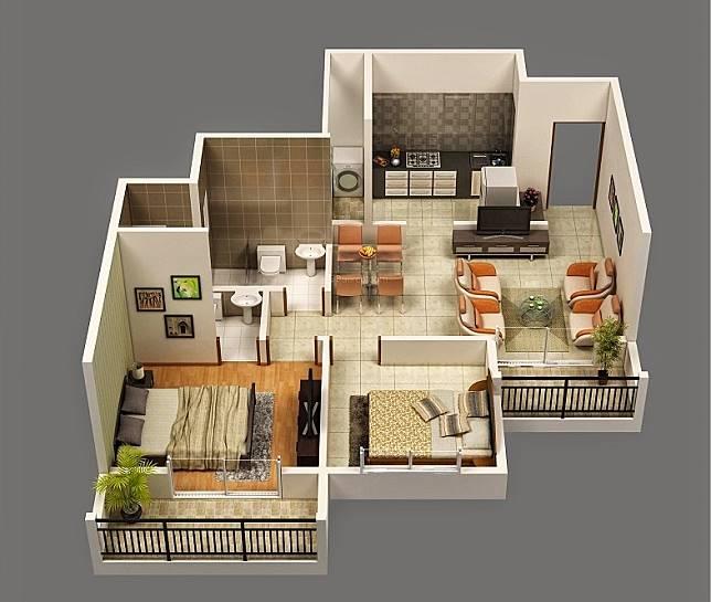 & 11 Desain Interior Rumah Tipe 36 Buat Pasangan Baru Nikah