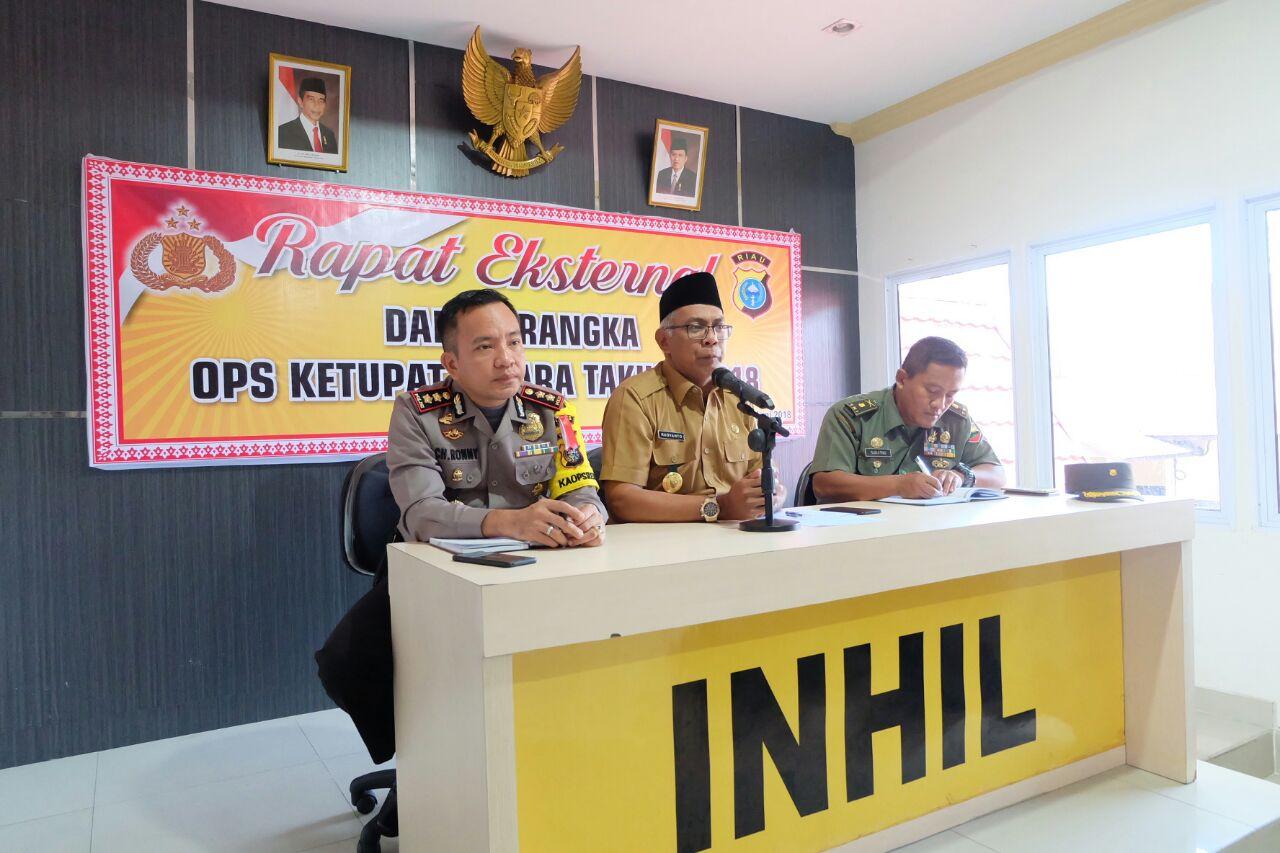 Pemkab Inhil, Polres Serta Kodim Persiapkan Kedatangan Kapolda Riau Dan Danrem 031/Wirabima