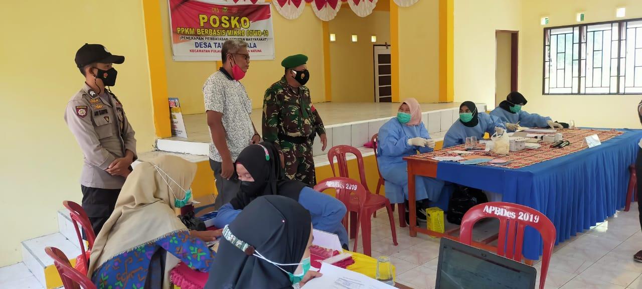 Polsek Pulau Laut Laksanakan Pengamanan Kegiatan Vaksinasi