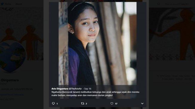 Deretan Foto Gadis Cantik Suku Baduy Ini Viral