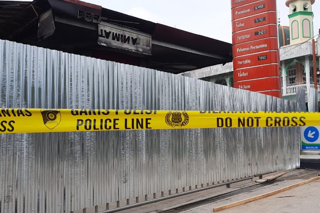 Polisi Masih Menyelidiki Penyebab Kebakaran SPBU Pekanbaru