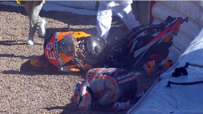 Video Kecelakaan Mengerikan Marc Marquez di Jerez