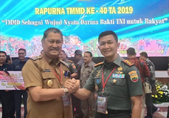 Wakil Bupati dan Dandim 0314/Inhil Hadiri Rapat Paripurna TMMD Ke 40
