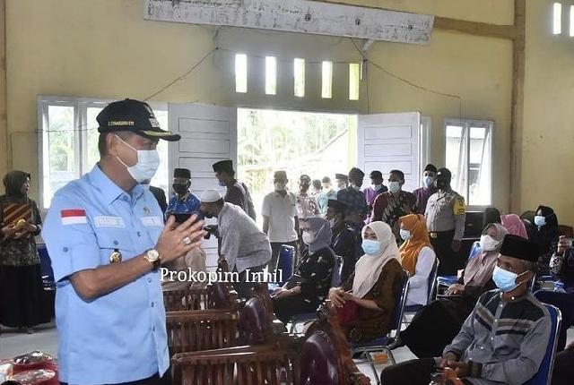 Wakil Bupati Inhil Kukuhkan Anggota BPD Desa Pengalihan
