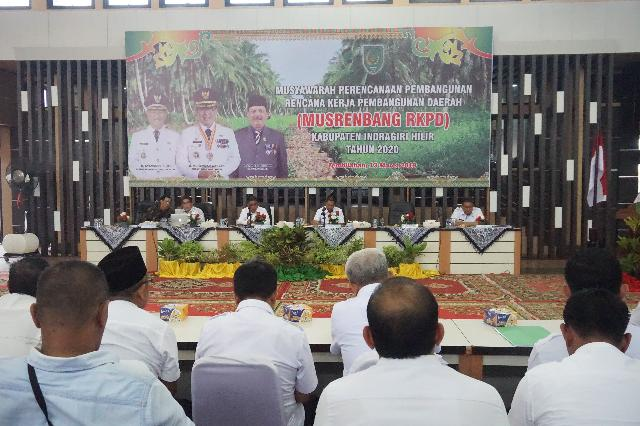 Wakil Bupati Buka Musrenbang RKPD Kabupaten Inhil Tahun 2020
